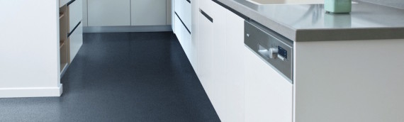Vinyl Linear Charcoal Kitchen