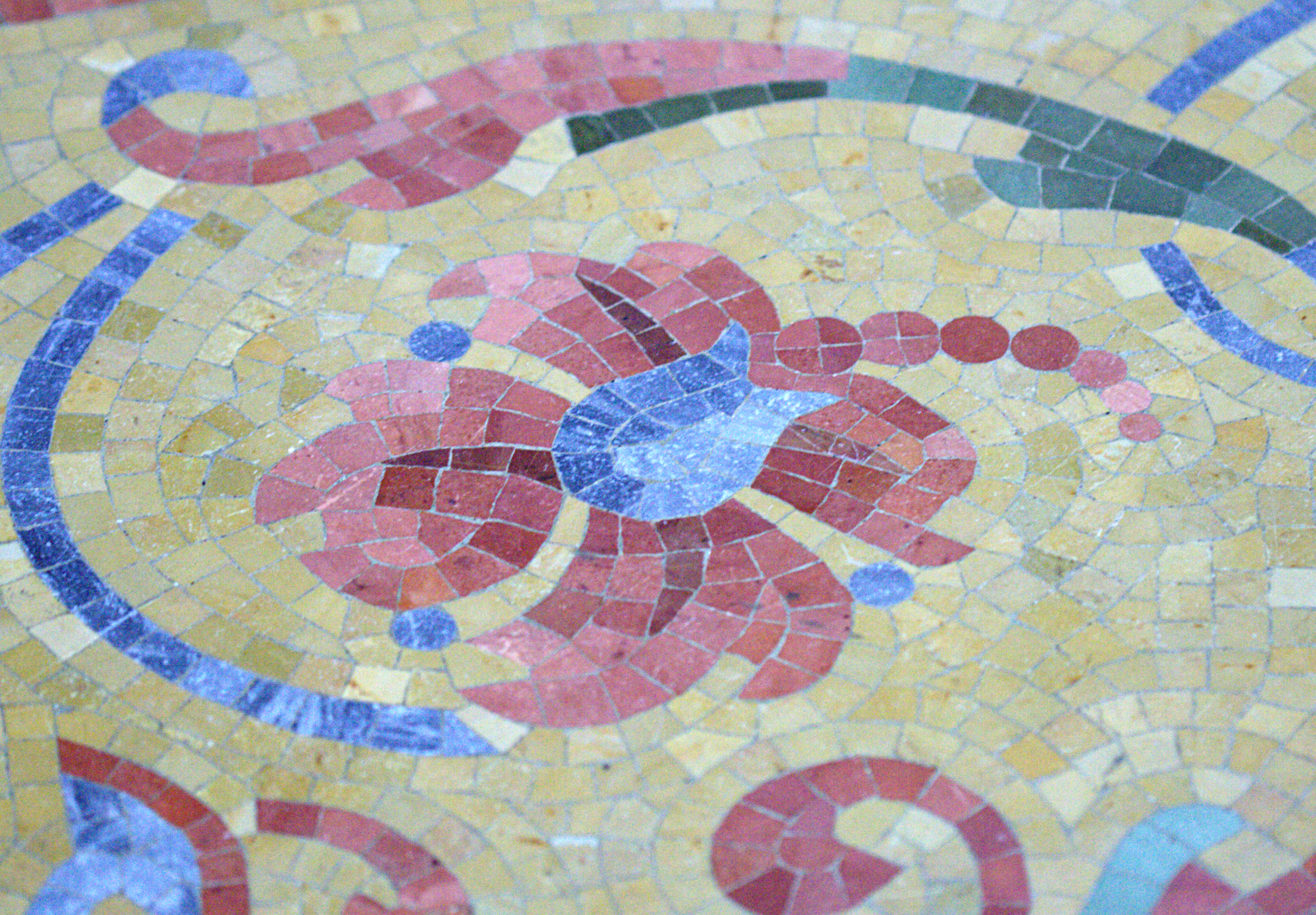 Carpet-Fit-Wales-Flooring-Facts-Mosaic_tile_floor_of_the_Milwaukee_Public_Library_-_flower facts
